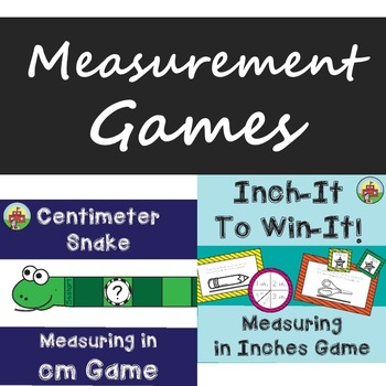 Measuring in Inches/Centimeters Game BUNDLE