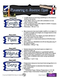 Measuring in Science - Cheat Sheet for Students!