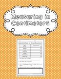 Measuring in Centimeters Printable
