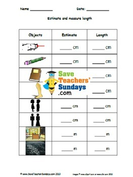 Measuring length (metric) worksheets (3 levels of difficulty)