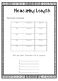 Measuring length recording sheet