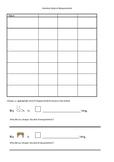 Measuring length with informal units - data recording sheet