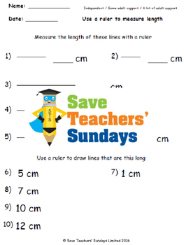 Measuring Lines Lesson Plans, Worksheets and More - CCSS 2.MD.1 and 2.MD.2