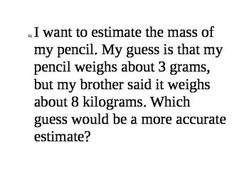 Measuring metric units
