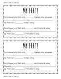 Measuring my Feet! (written response)