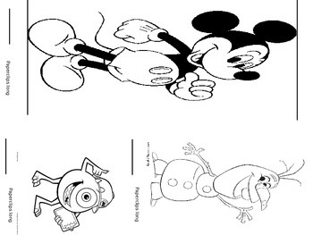 Measuring non-standard and standard units with Disney Characters