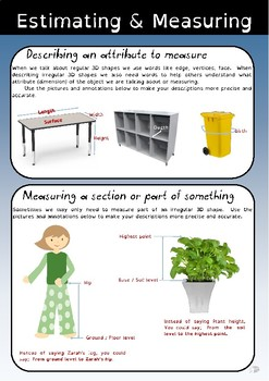 Measuring objects - explanation and table