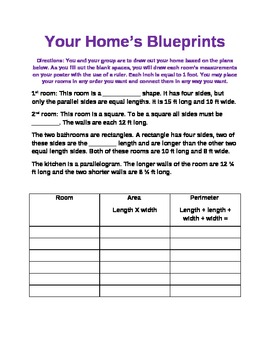 Blueprints teaching resources teachers pay teachers measuring out blueprints measuring out blueprints malvernweather Image collections