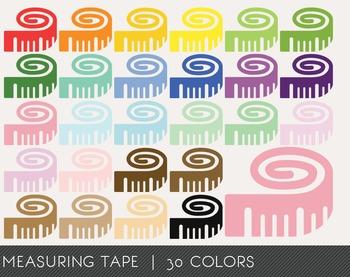 Measuring tape Digital Clipart, Measuring tape Graphics, M