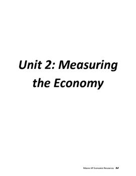 Measuring the Economy Unit 2 Problem Sets Handouts