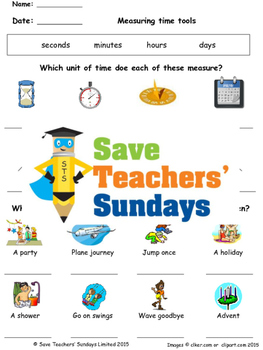 Measuring Time Lesson Plans, Worksheets and More