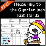 Measuring to Quarter Inch Task Cards