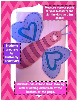 Measuring to the Half and Quarter Inch Butterfly Craftivity 3.MD.B.4
