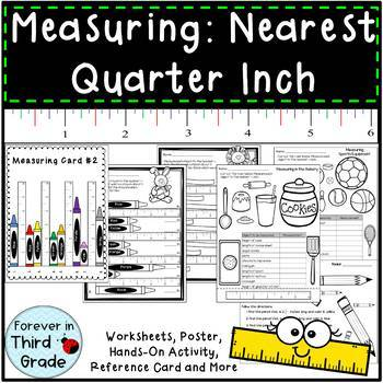Measuring To The Quarter Inch Worksheets Teaching Resources