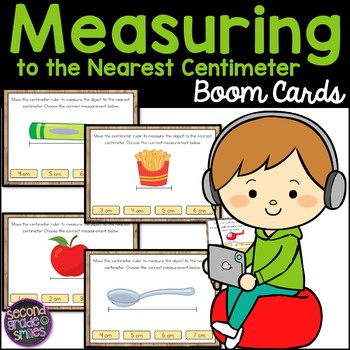Measuring to the Nearest Centimeter Boom Cards