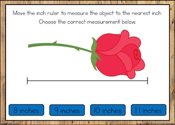 Measuring to the Nearest Inch Boom Cards
