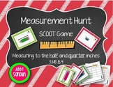 Measuring to the half and quarter inch - SCOOT Game {3.MD.B.4}