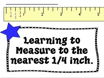 Measuring to the nearest 1/4 inch - teaching tool and 40 T
