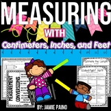 Measuring using Inches, Centimeters and Feet