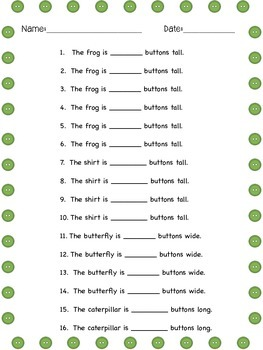 Measuring with Buttons