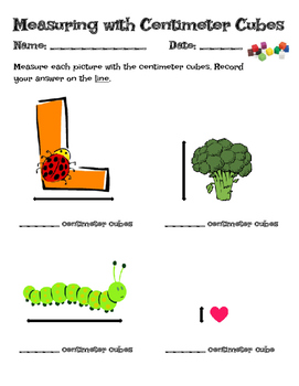 photograph relating to Centimeter Cubes Printable named Measuring With Centimeter Cubes Worksheets Schooling
