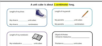 Measuring with Centimeters and Unit Cubes