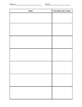 Measuring with Cubes & Using a Pan Balance