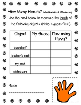 Non Standard Measurement Worksheets for Kindergarten wonderful ...