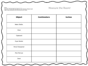 Measuring Inches And Centimeters Worksheets | Teachers Pay ...