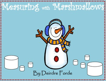 Snowman Measuring with Marshmallows