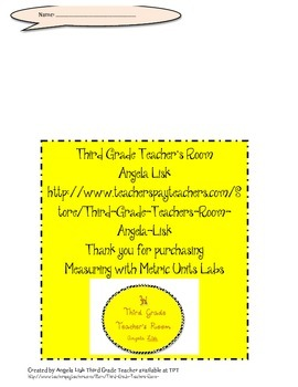 Measuring with Metric Units Labs