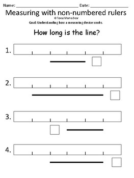 Measuring with Non-Numbered Rulers