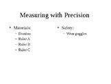 Measuring with Precision Lab