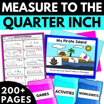 Measuring with Rulers - Measuring Worksheets Activities Games