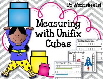 Measuring with Linking Cubes! Worksheets. Interlocking counting blocks