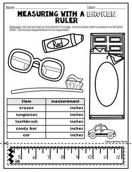measuring with a broken ruler task cards posters and worksheets 2nd grade. Black Bedroom Furniture Sets. Home Design Ideas