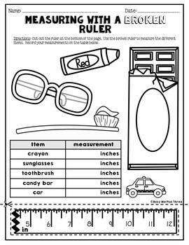 measuring with a broken ruler task cards posters and worksheets 2nd grade. Black Bedroom Furniture Sets. Home Design Ideas