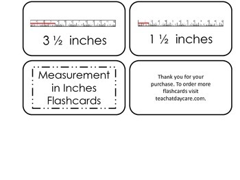 Measuring with a Ruler printable Picture Word Flash Cards. Preschool flashcards.