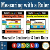 Measuring with a ruler in Inches and Centimeters - Digital Google Slides Bundle