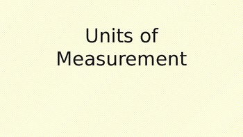Measurment- Customary