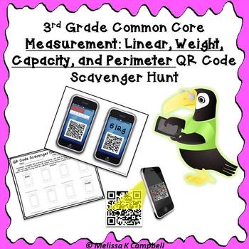 Measurement QR Code Scavenger Hunt
