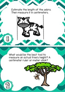 Measurement Task Cards: Engage New York Grade 2 Module 2