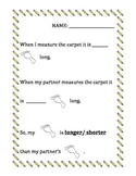 Measurment (longer, shorter, bigger, smaller, comparing) (Pre- K, K, Grade 1)