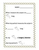 Measurment (longer, shorter, bigger, smaller, comparing) (