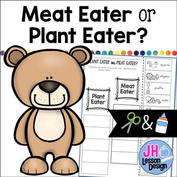 Meat Eater or Plant Eater? Cut and Paste Sorting Activity