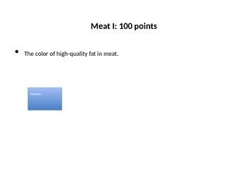 Meat, Eggs, Vegetarian Jeopardy
