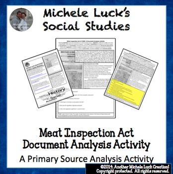 Meat Inspection Act Document Analysis Activity