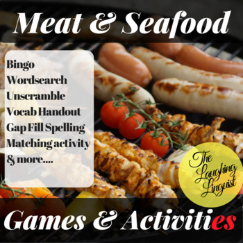 Meat & Seafood:  ESL Games and Activities Bundle incl. Bingo, Wordsearch & more