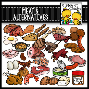 Meat and Alternatives Clip Art