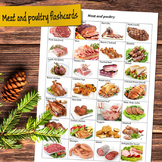 Meat and poultry flashcards (vocabulary worksheet)